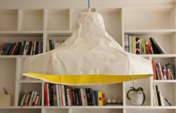 Crumpled Papery Lamp Papela by Meirav Barzilay 3