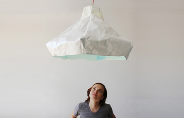 Crumpled Papery Lamp Papela by Meirav Barzilay 8