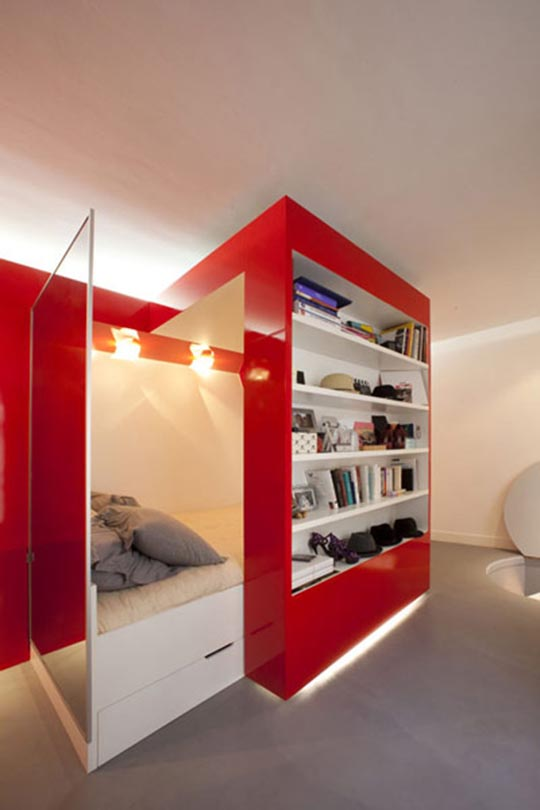 Compact Space Red Nest by Paul Coudamy 7