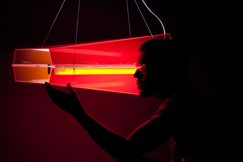 Reheat Lamp Inspired by Concorde Aircraft