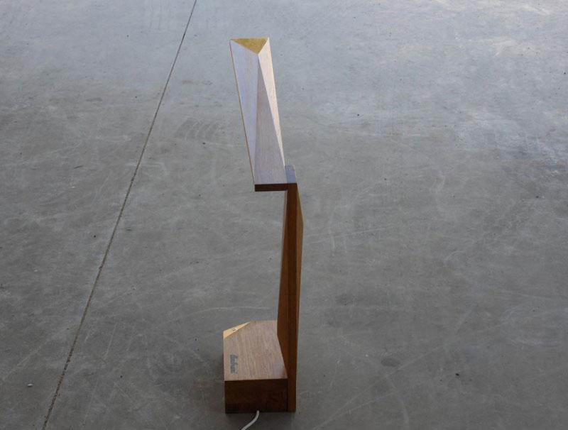 Oak Wood Table Lamp Ardea by Amitrani 3