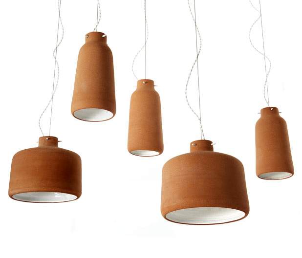 Chimney Clay Pendant Lamp by Benjamin Hubert 1