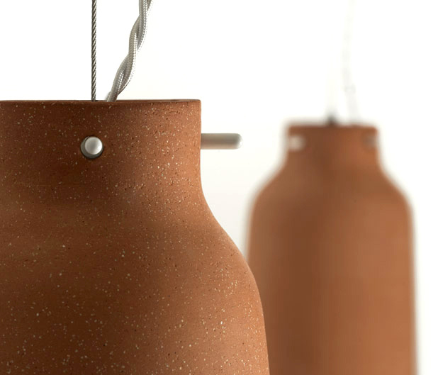 Chimney Clay Pendant Lamp by Benjamin Hubert 4