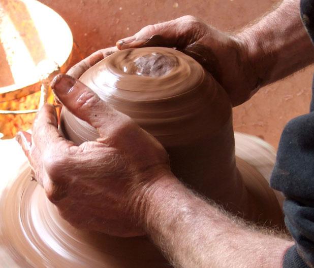 Chimney Clay Pendant Lamp by Benjamin Hubert 6