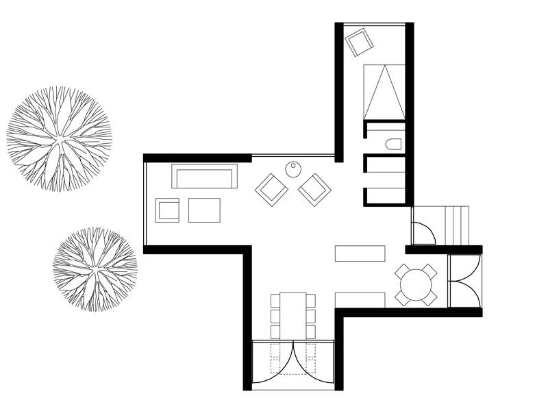 Four-Cornered Villa by Avanto Architects 11