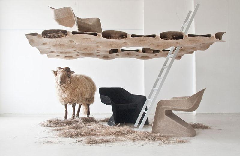 Monobloc Chair Hemp by Studio Aisslinger 2