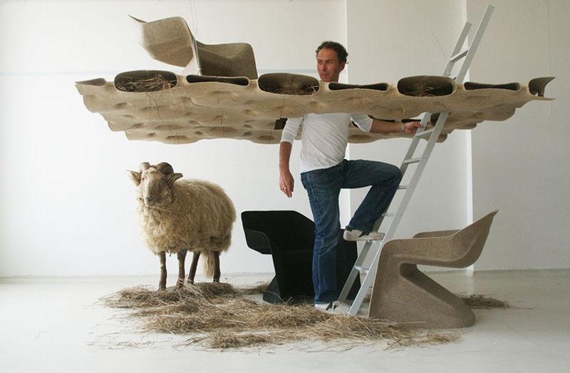 Monobloc Chair Hemp by Studio Aisslinger 3