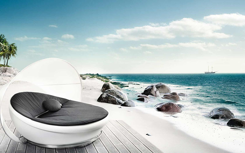 Lagoon Outdoor Daybed by Solpuri 1