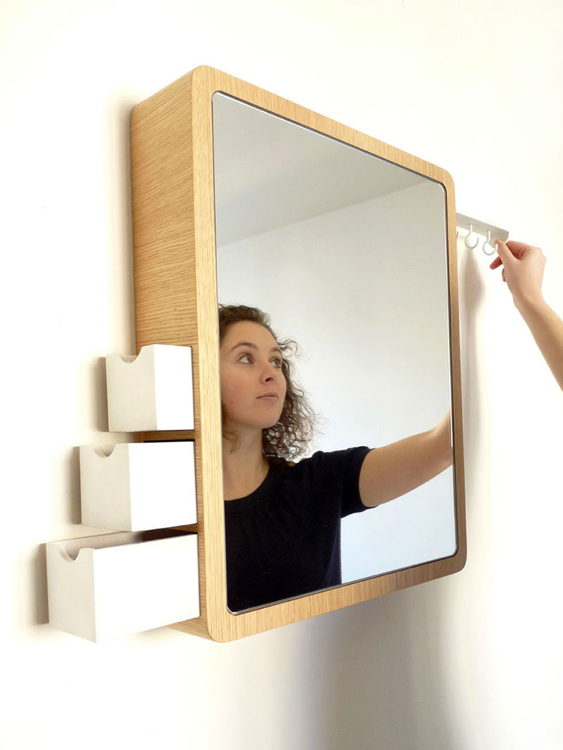 Precious Mirror with storage drawer 4