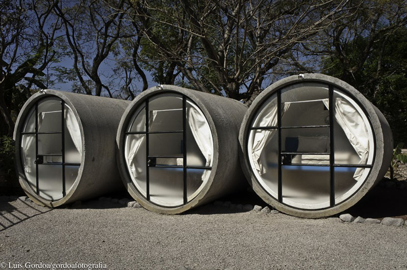 TuboHotel made of concrete pipes