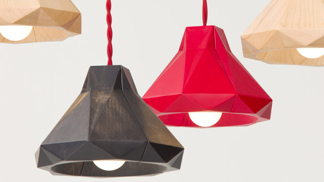 Marionette Wooden Suspended Lamp 1