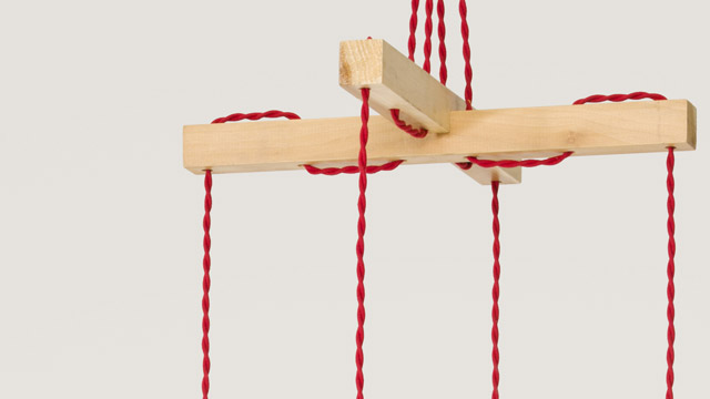 Marionette Wooden Suspended Lamp 3