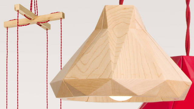 Marionette Wooden Suspended Lamp 4