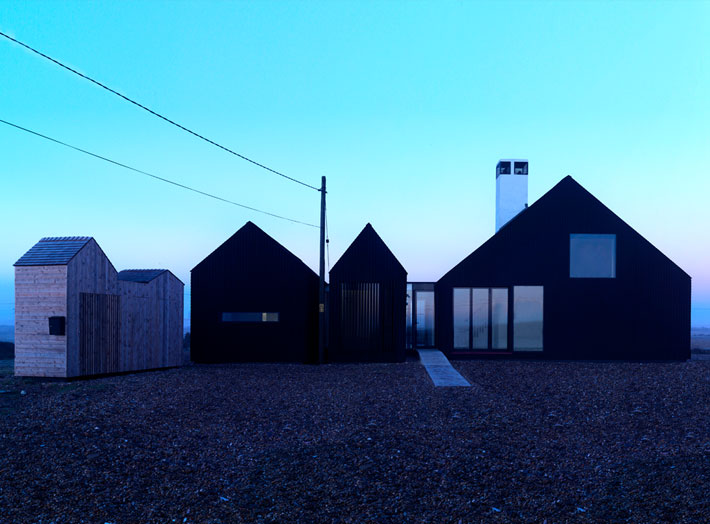 The Shingle House in Evening