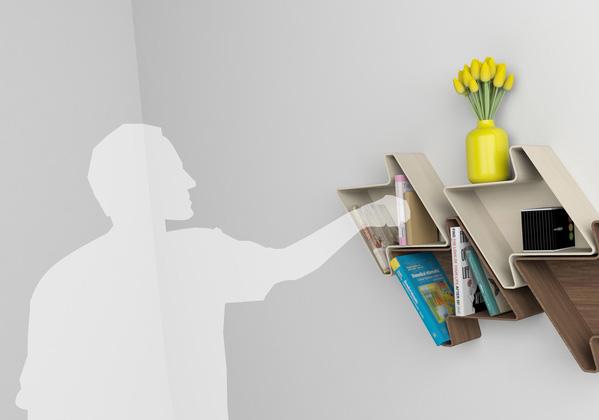 Pied-de-Poule Modular Wall Shelf System 4