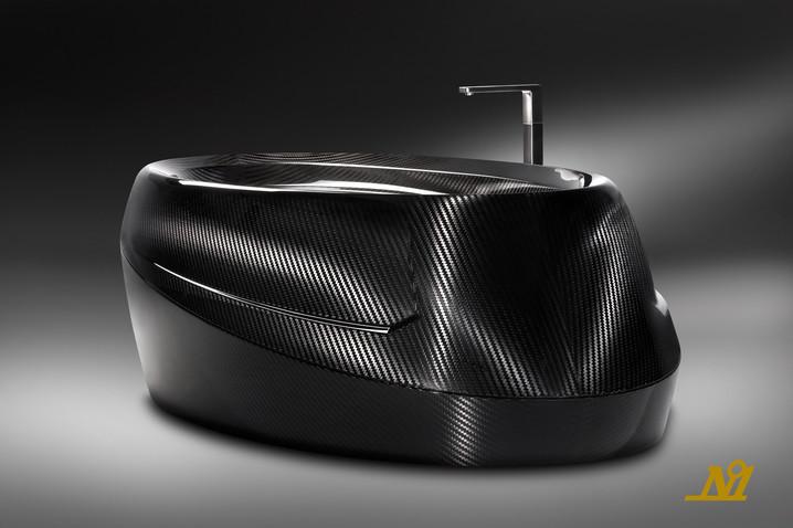 Modern carbon fiber bathtub design