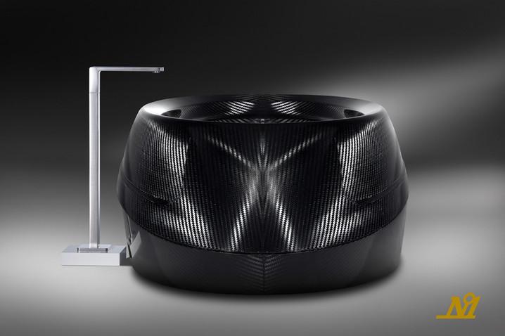 Futuristic carbon fiber bathtub