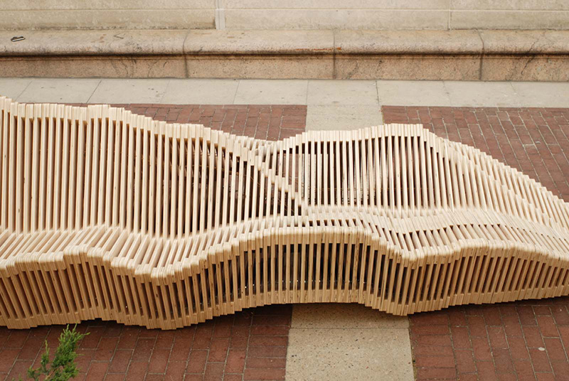 Polymorphic Kinetic Installation Bench 2