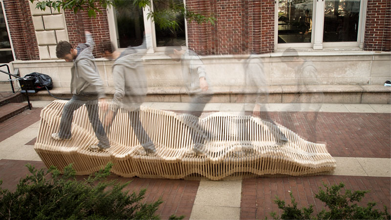 Polymorphic Kinetic Installation Bench 7
