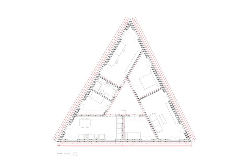 Triangular Shaped 712 House 10