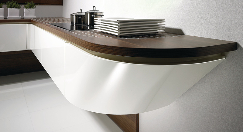 Marecucina kitchen shaped like boat 9