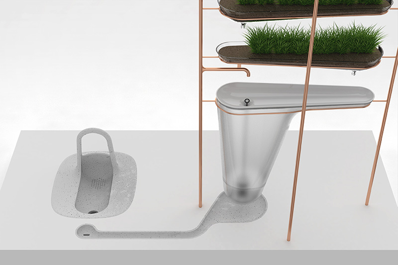Filtering squatting toilet concept 1