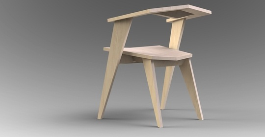 Katto light wooden Chair 1