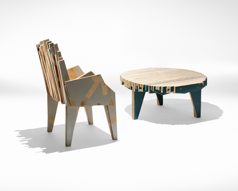 Petroglyph Coffee Table and Armchair