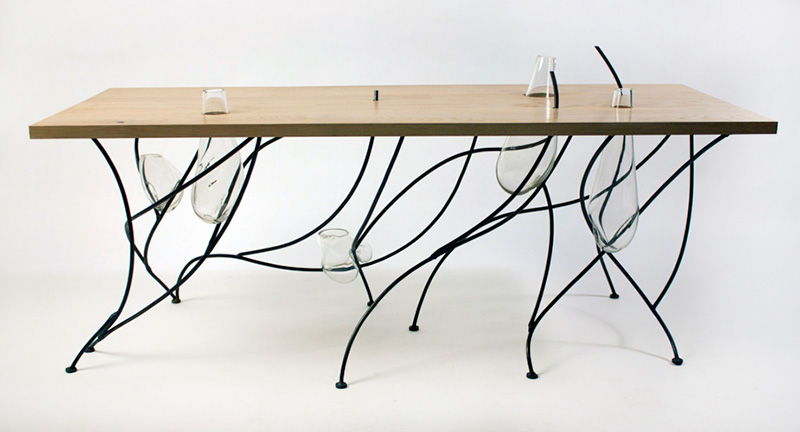 Sweep Table Inspired by Japanese Rock Gardens 1