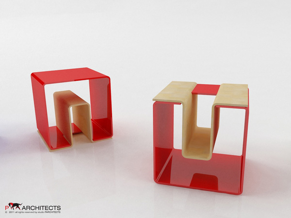 UN eco-friendly multifunctional Stool 2