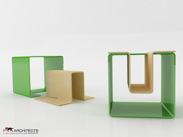 UN eco-friendly multifunctional Stool 4