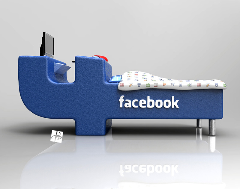 FBed concept Facebook Bed 1
