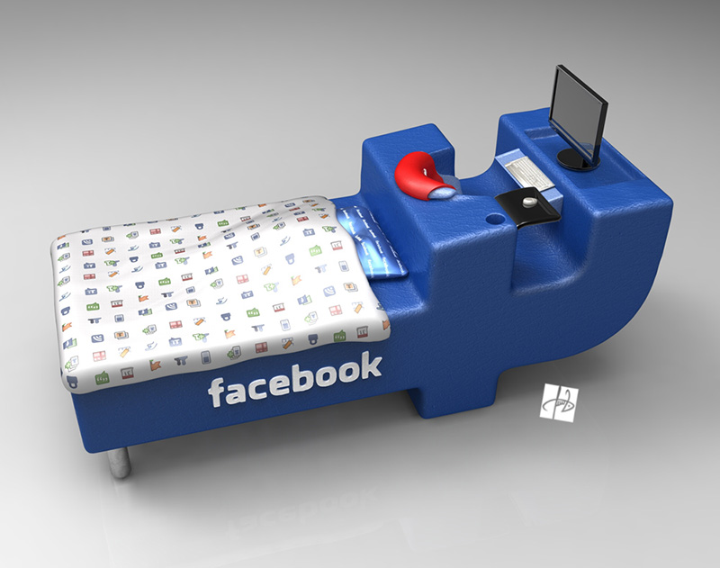 FBed concept Facebook Bed 2