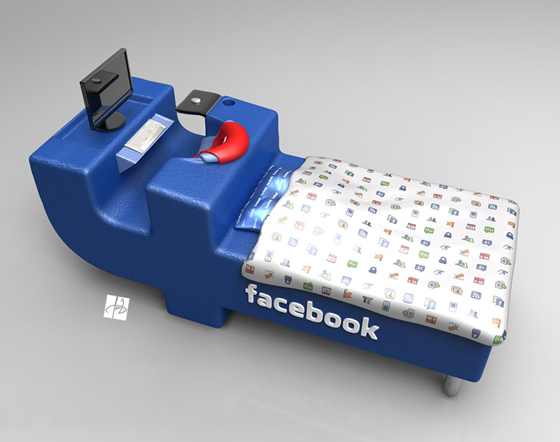FBed concept Facebook Bed 7