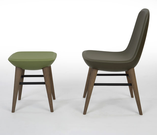 Pebble Chair and Stool