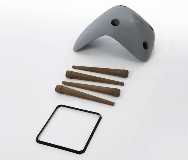 Pebble Chair disassembled
