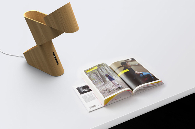 Tangram bamboo table lamp 1