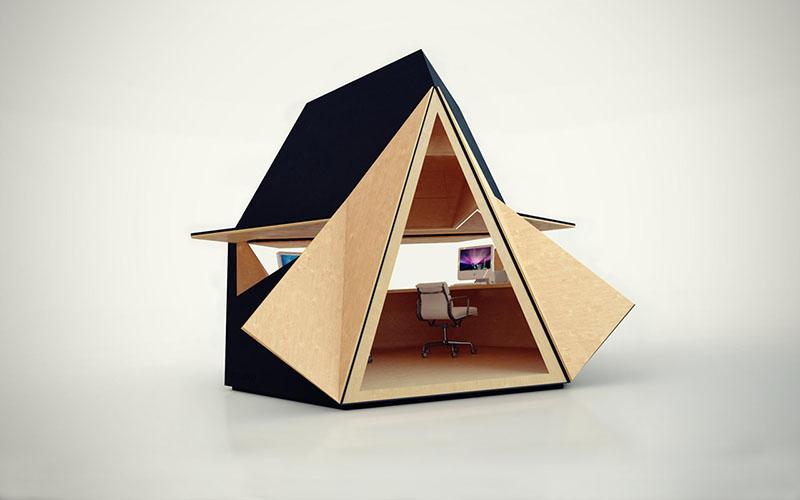 Modern Garden office Tetra Shed