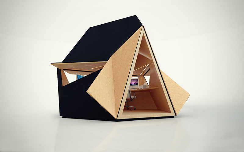Compact Office Tetra Shed 3