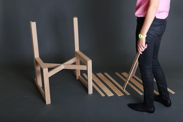 Chairnobil wooden chair 1