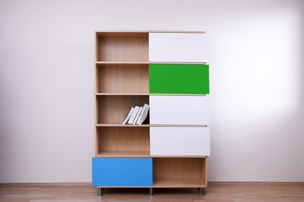 Hide & Show Bookshelf by Miriama Balazova 3