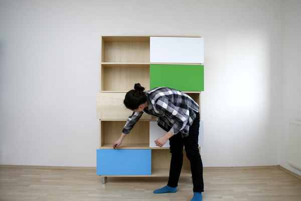 Hide & Show Bookshelf by Miriama Balazova 5