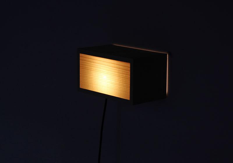Kibako Wall Lamp by Mathias Astúa and Louis Maucout