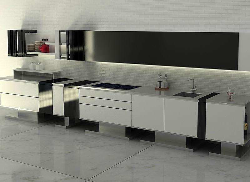 Liu Modern Kitchen Design White