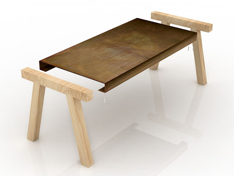 Mastro Work Table by Gum Design