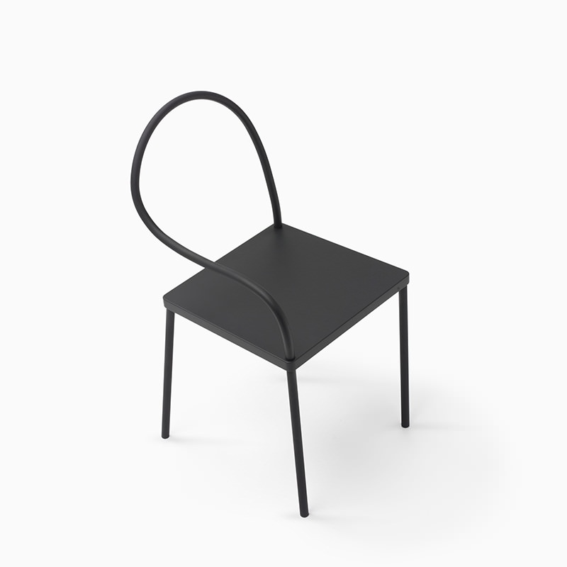 Melt Black Chair by Nendo