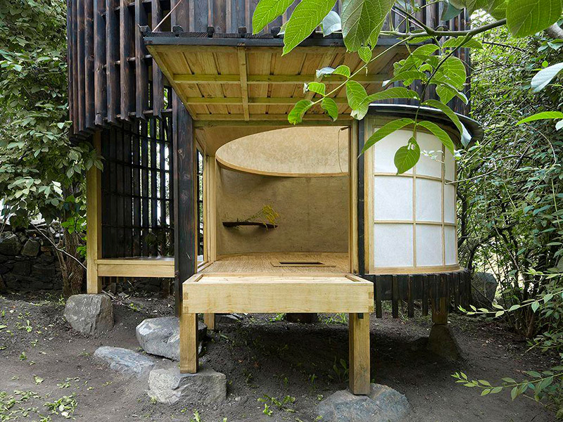 Teahouse in the garden by A1 Architects