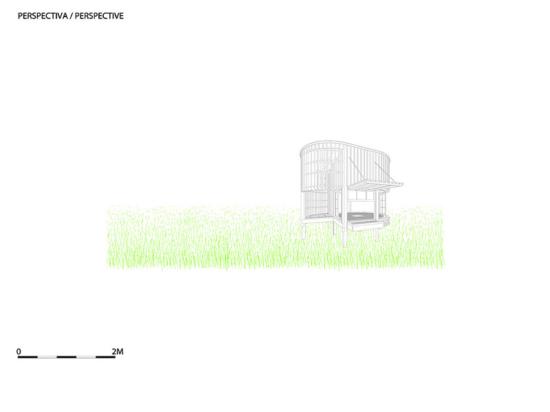 Teahouse in the garden drawing