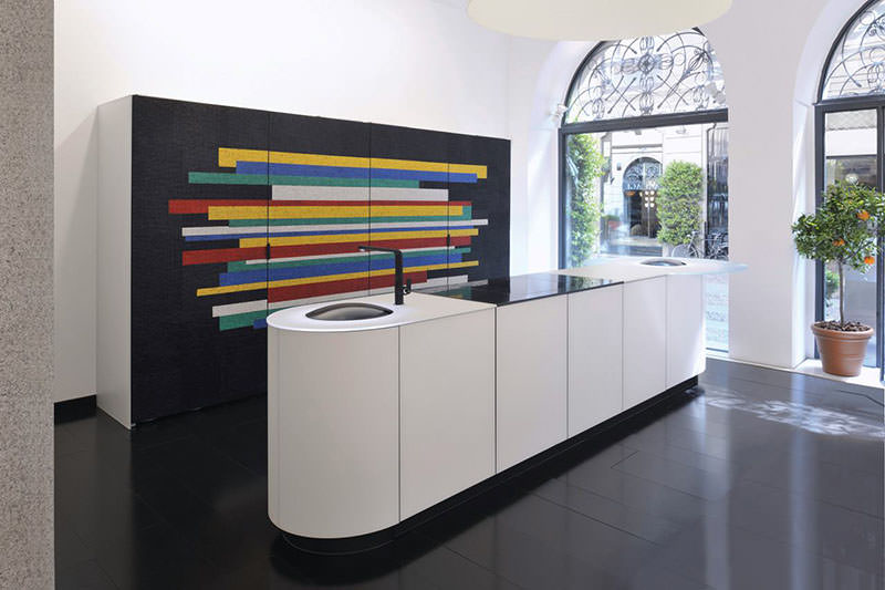 Colorful Mosaic Kitchen Argento by GD Cucine and Cotto Veneto
