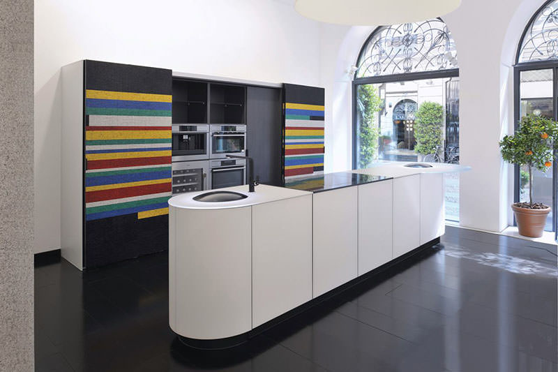 Colorful Mosaic Italian Kitchen by GD Cucine